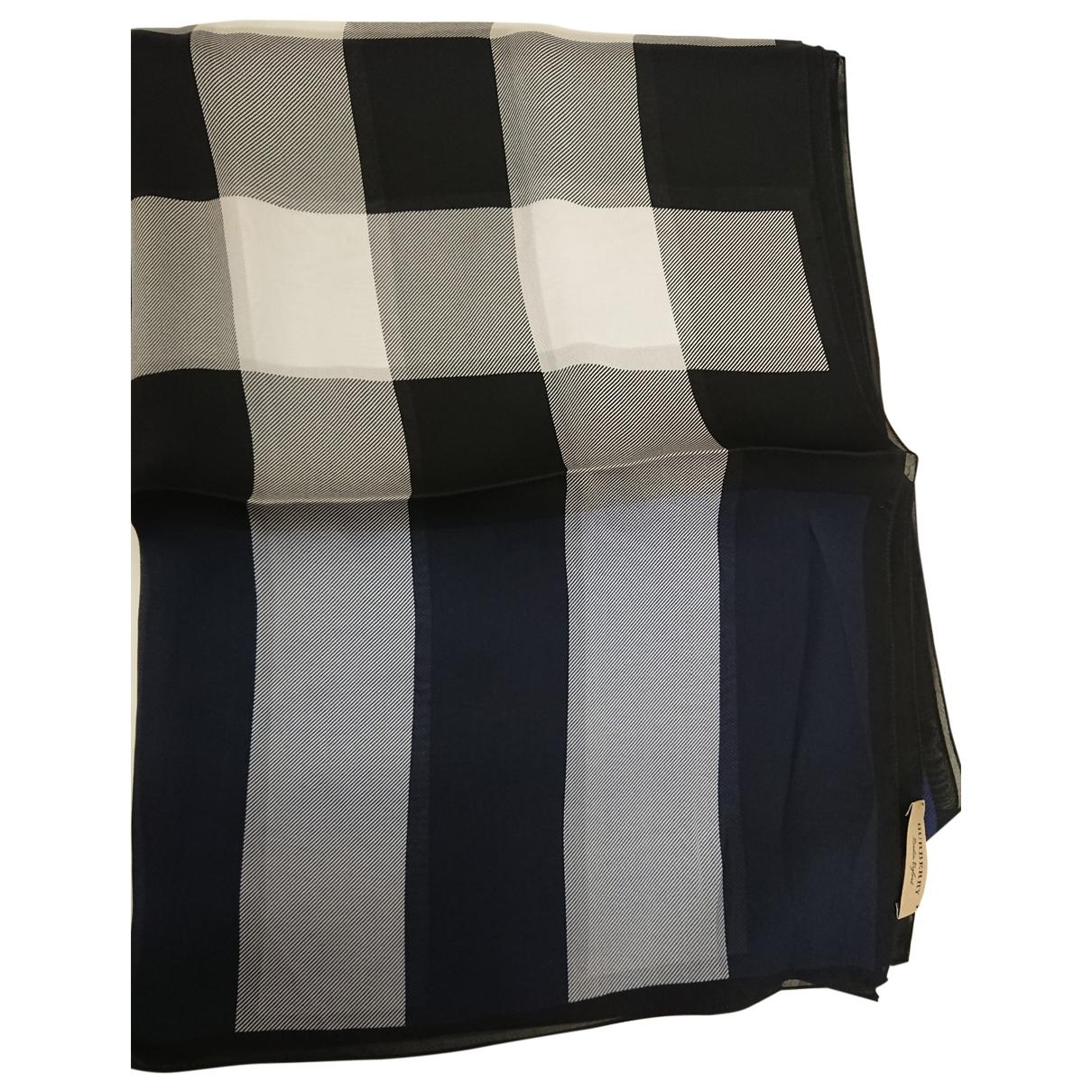 Burberry \N Blue Silk scarf for Women \N