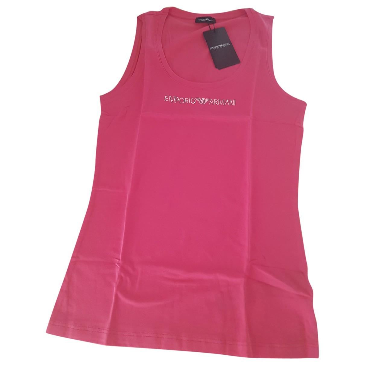 Emporio Armani - Top   pour femme en coton - rose