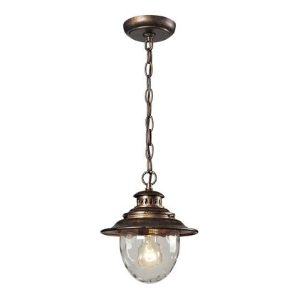 45031/1 Searsport 1 Light Outdoor Pendant in Regal