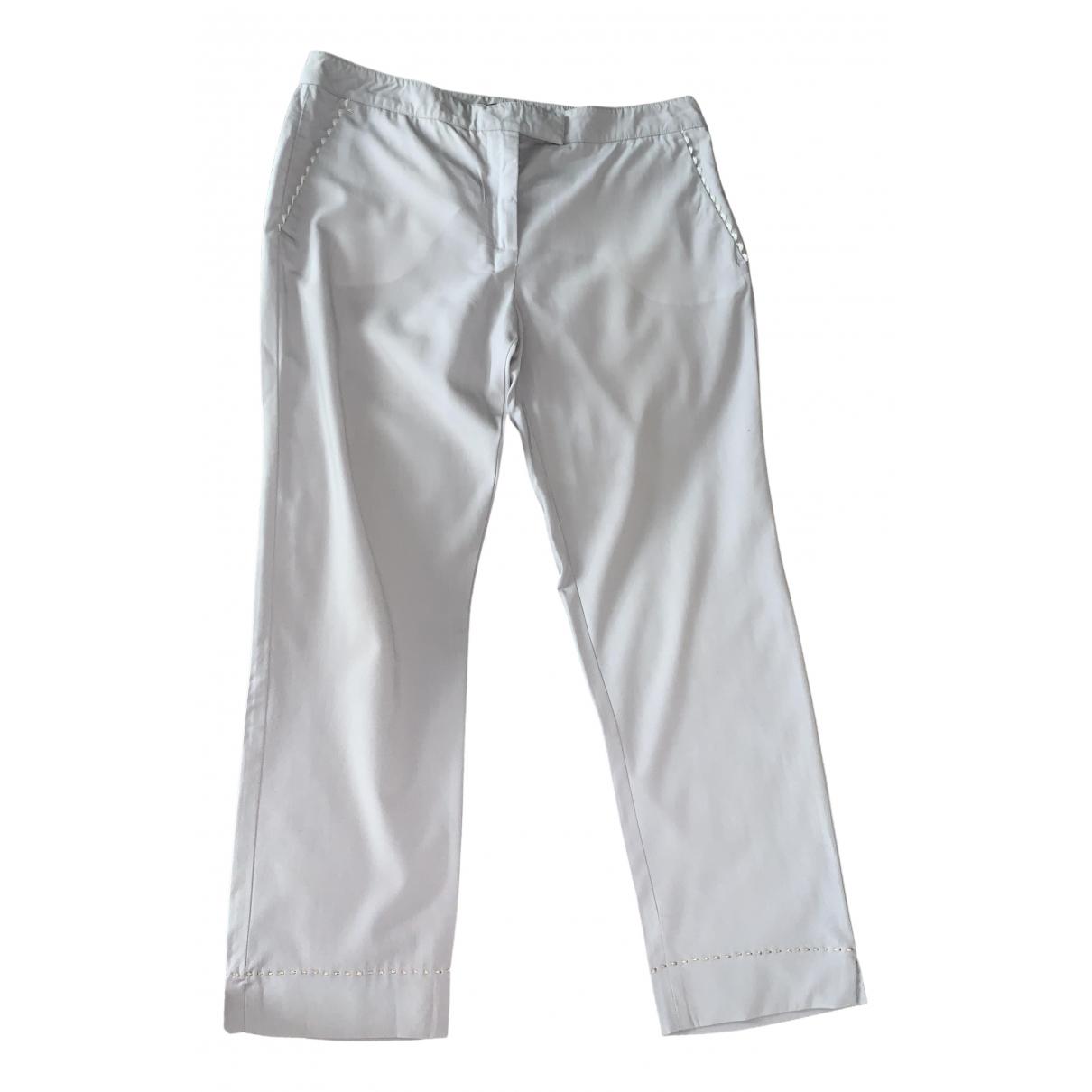 Fendi - Pantalon   pour femme en coton - bleu