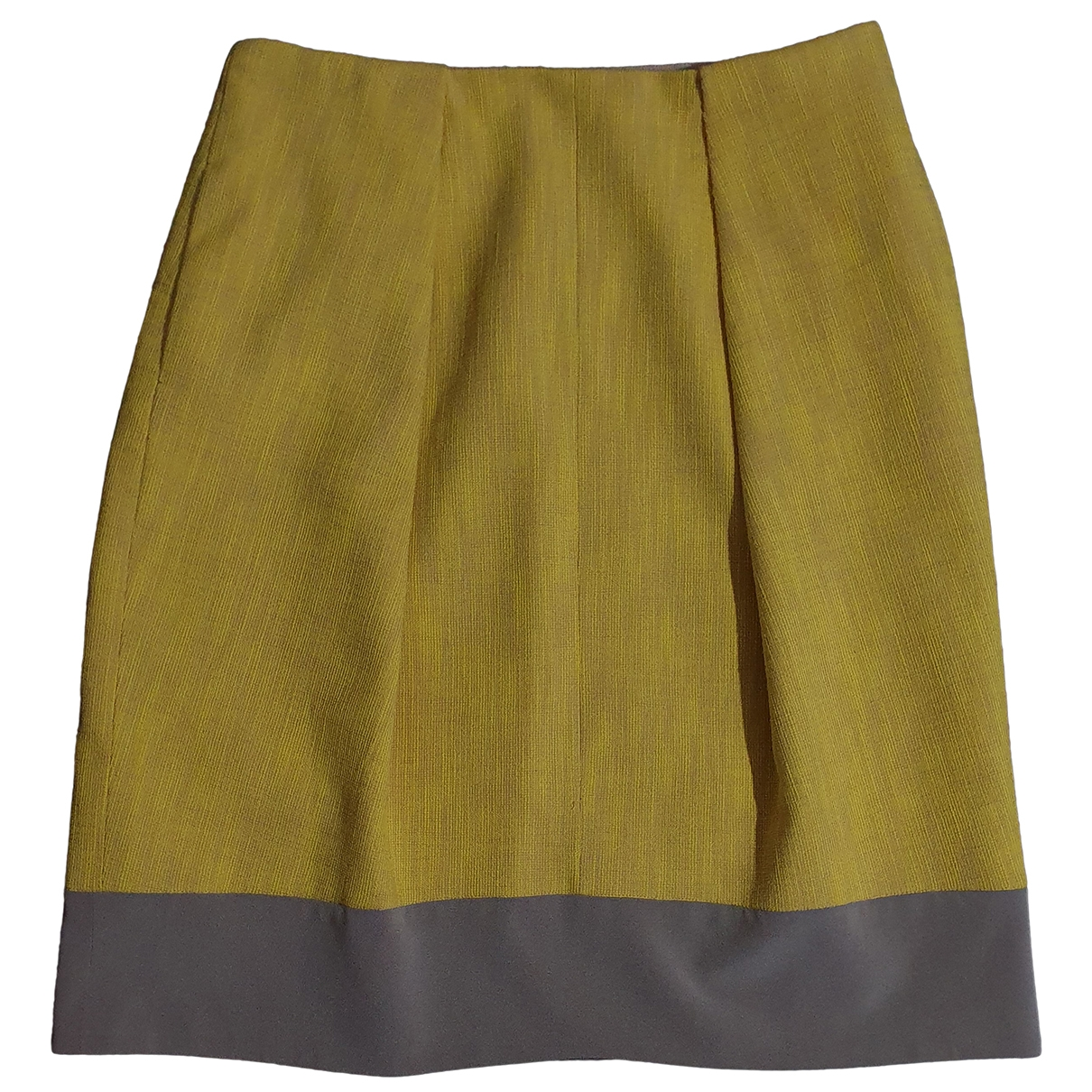 Carven \N Yellow Cotton skirt for Women 42 FR