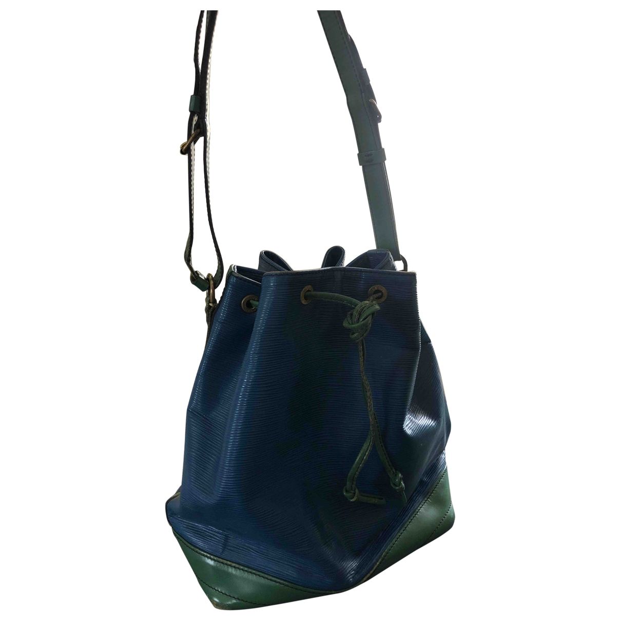 Louis Vuitton Noe Handtasche in  Blau Leder
