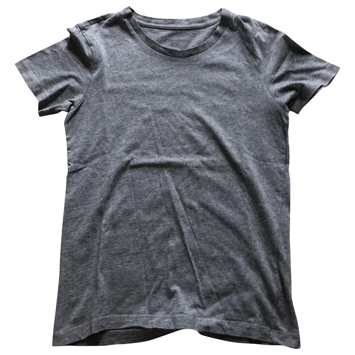 Calvin Klein - Top   pour enfant en coton - gris