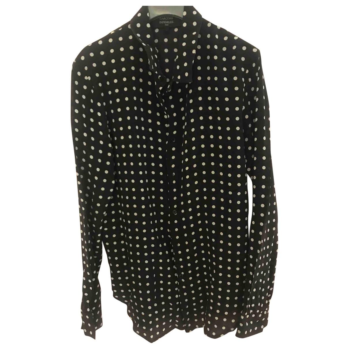 Garcons Infideles \N Black Silk  top for Women 36 FR