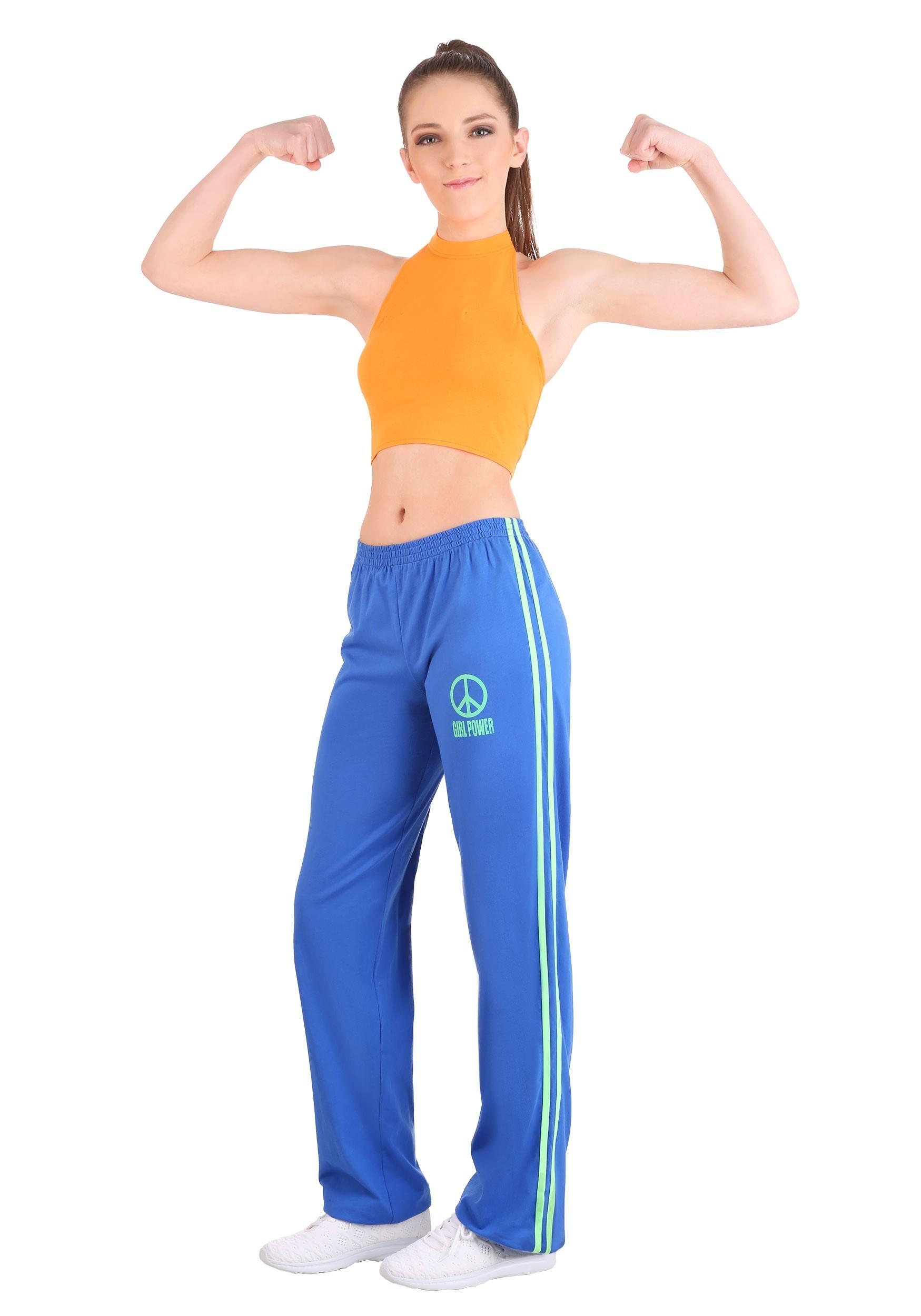 Athletic Girl Power Popstar Costume for Women