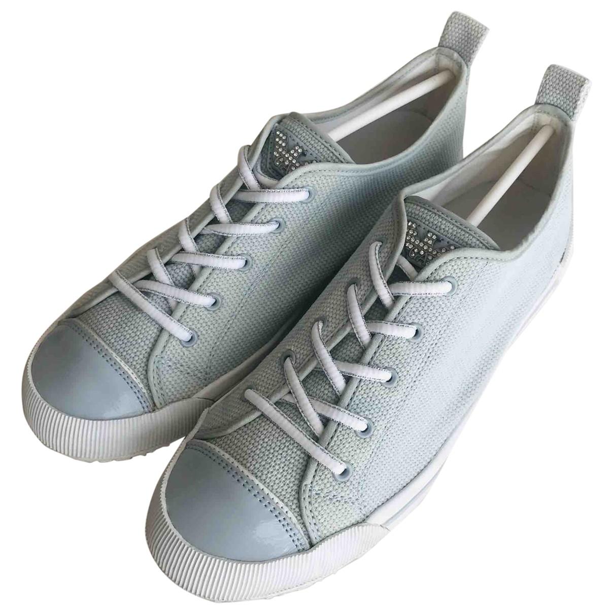 Armani Jeans \N Blue Cloth Trainers for Women 39 EU