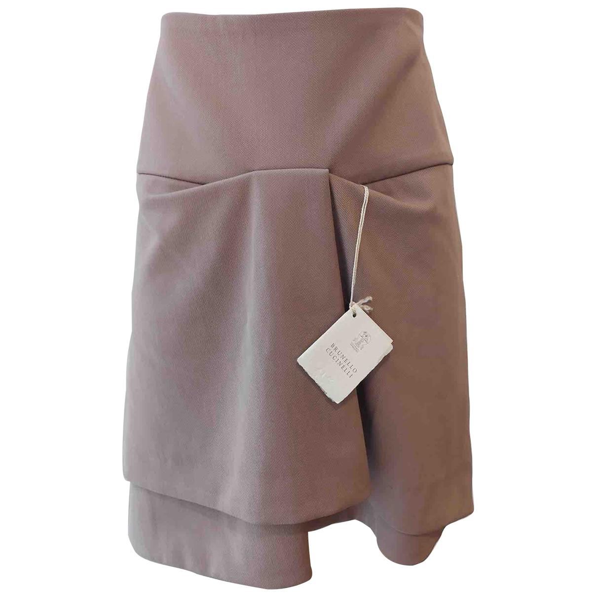 Mini falda de Lana Brunello Cucinelli