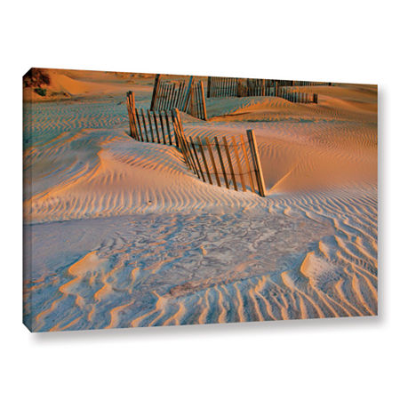 Brushstone Dune Patterns II Gallery Wrapped CanvasWall Art, One Size , White