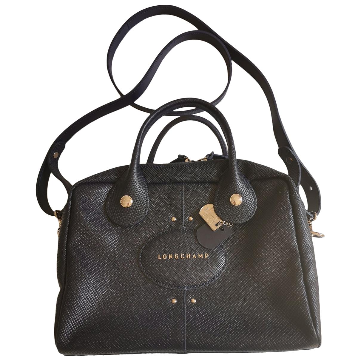 Longchamp \N Handtasche in  Blau Leder