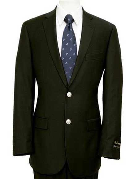 Mens 2 Buttons Silver Color Buttons Poly Blend Black Sports Jacket