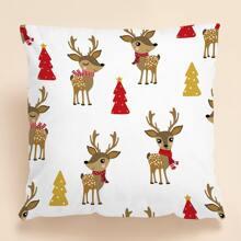 Weihnachten Kissenbezug mit Hirsch Muster ohne Fuelle