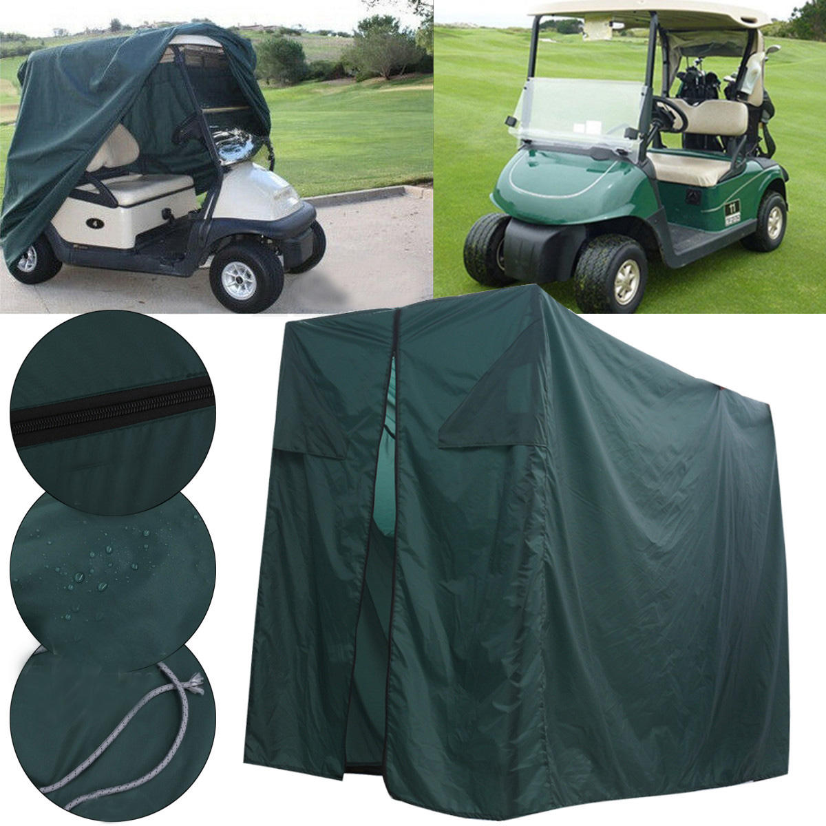 Golf Buggy Cart Cover Waterproof Dustproof UV Protector