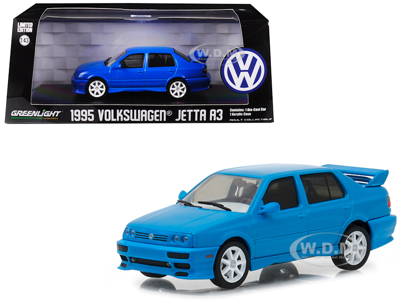 1995 Volkswagen Jetta A3 Blue 1/43 Diecast Model Car by Greenlight