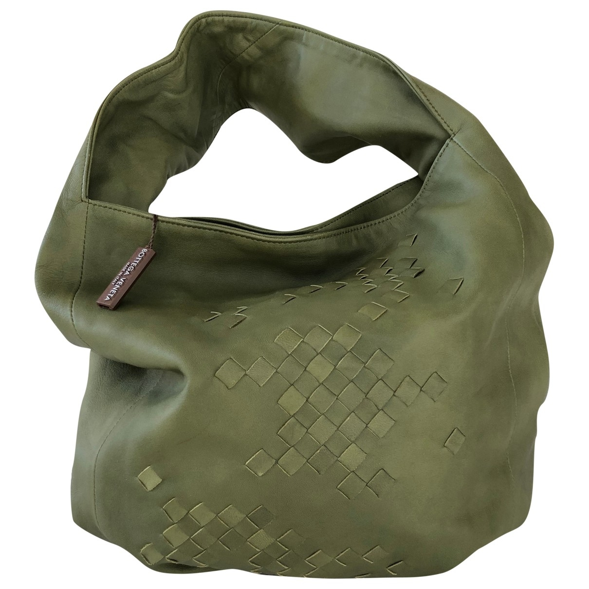 Bottega Veneta \N Green Leather handbag for Women \N