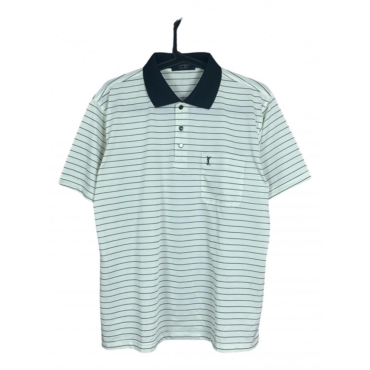 Yves Saint Laurent \N White Silk Polo shirts for Men M International