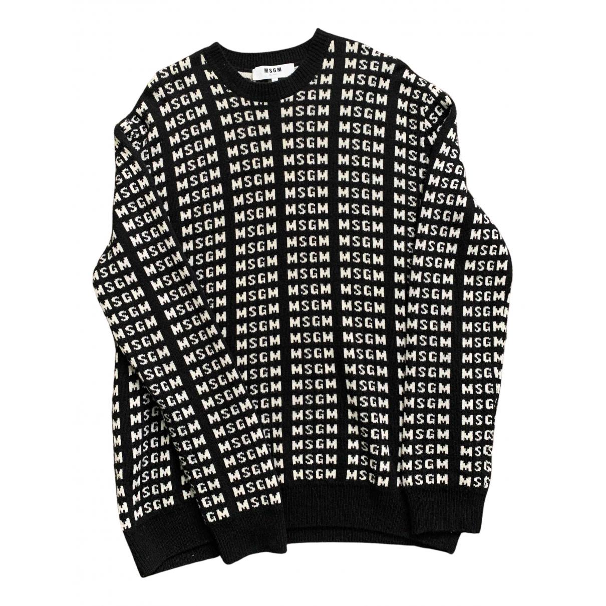 Msgm \N Pullover.Westen.Sweatshirts  in  Schwarz Wolle