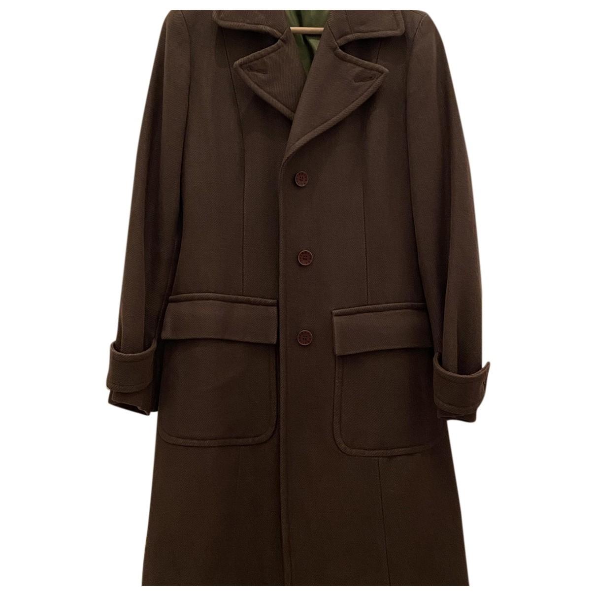 Trussardi - Manteau   pour femme en coton - kaki