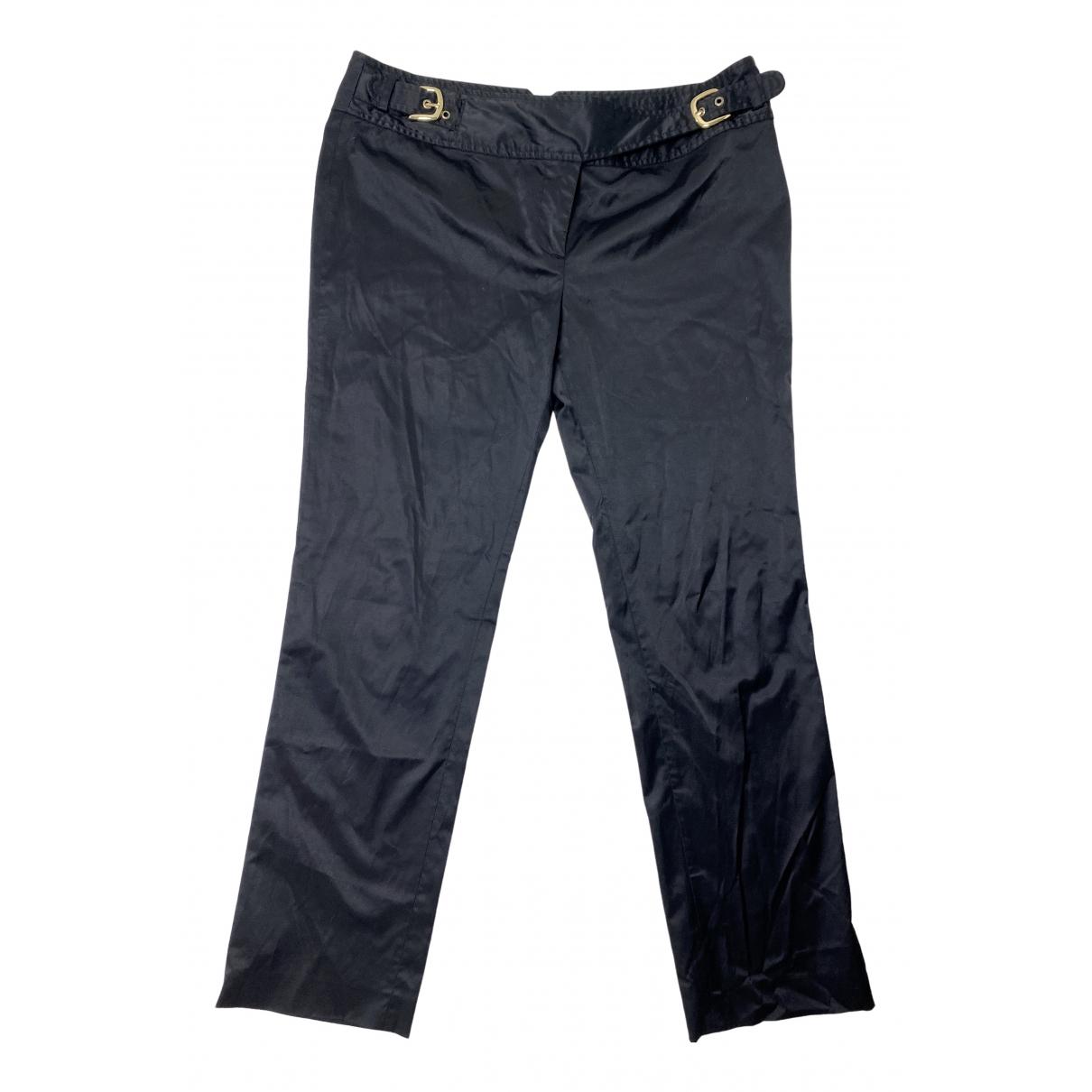 Alexander Mcqueen \N Black Cotton Trousers for Women 42 IT