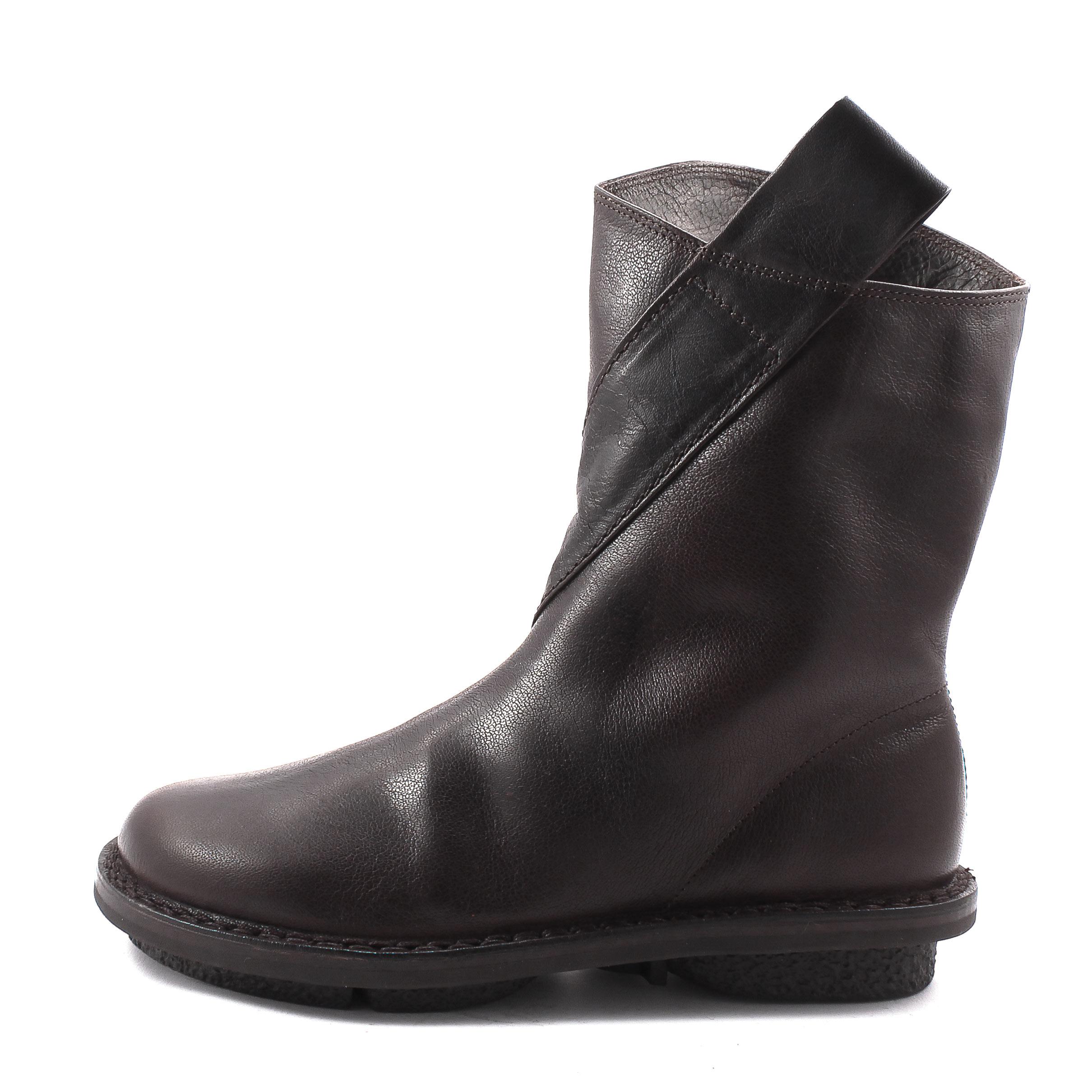 Trippen, Exit f Closed Womens Lambskin Bootees, dark brown Größe 41