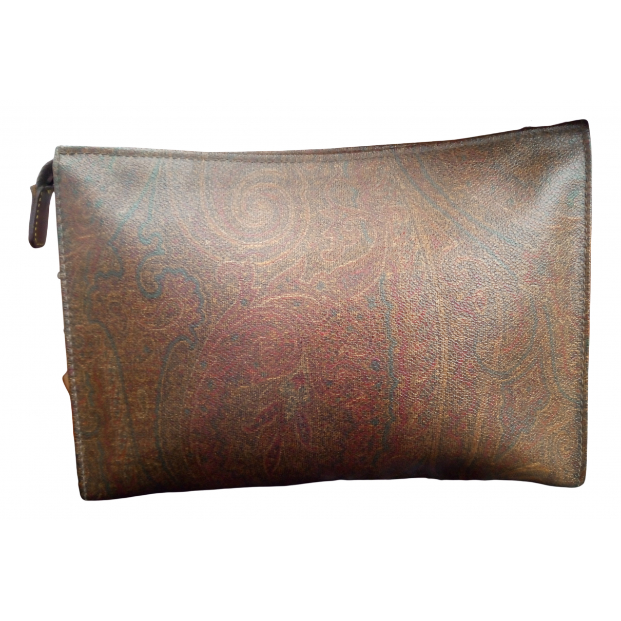 Etro N Brown Cloth Clutch bag for Women N