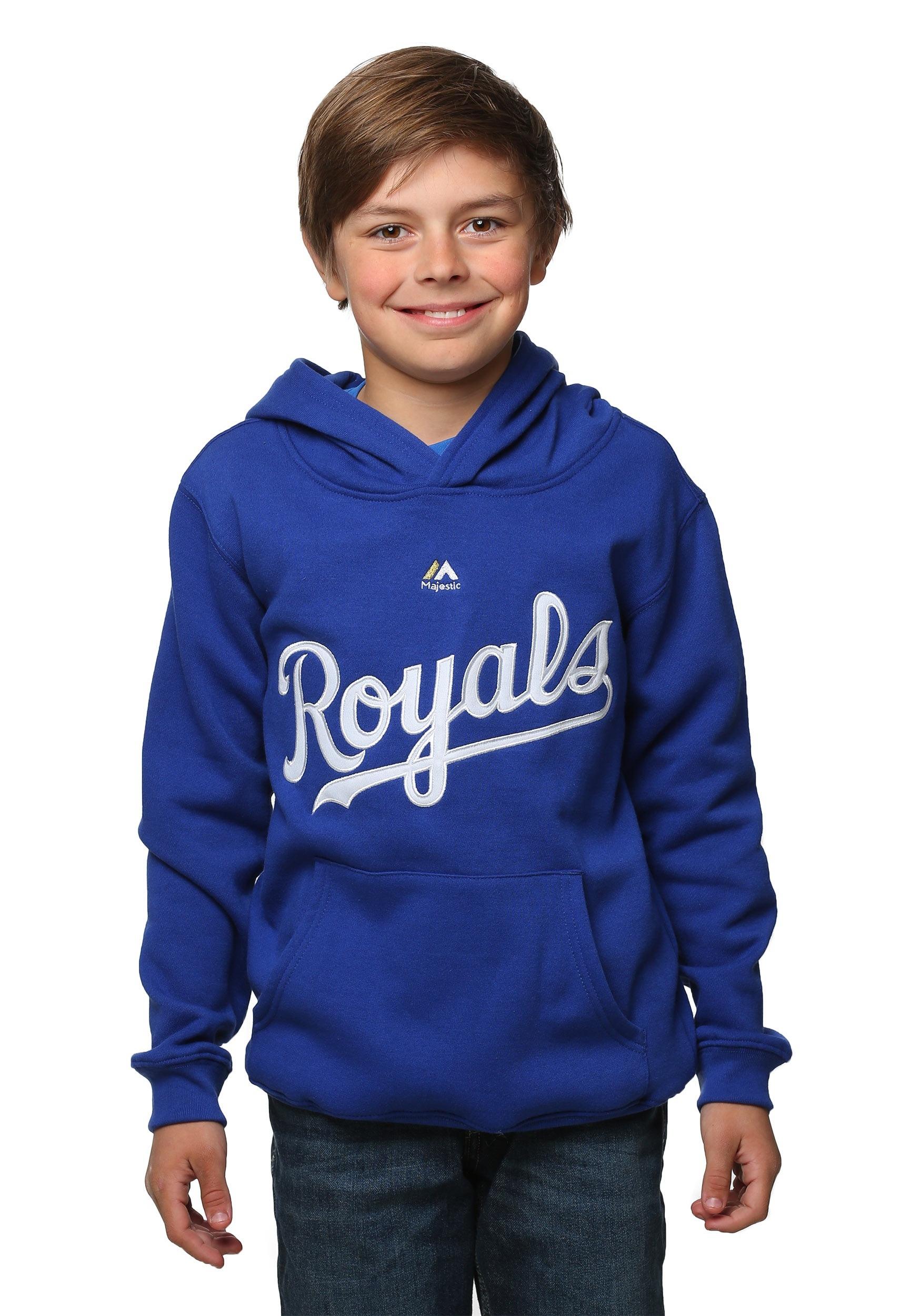 Kansas City Royals Wordmark Twill Fleece Kids Hoodie