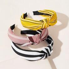 3pcs Striped Print Headband