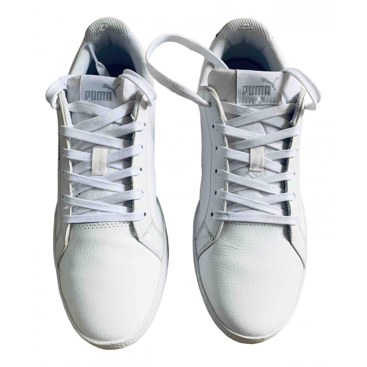 Puma \N Sneakers in  Weiss Lackleder