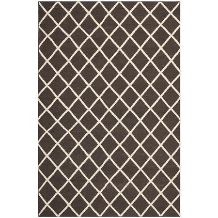 Safavieh Yorick Hand Woven Flat Weave Area Rug, One Size , Brown