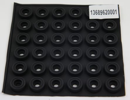 RS PRO 20 x 7.3mm Feet for use with Extruded Aluminium Enclosures, Black