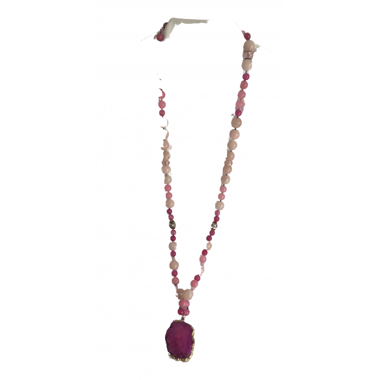 Non Signe / Unsigned \N Halskette in  Rosa Perlen