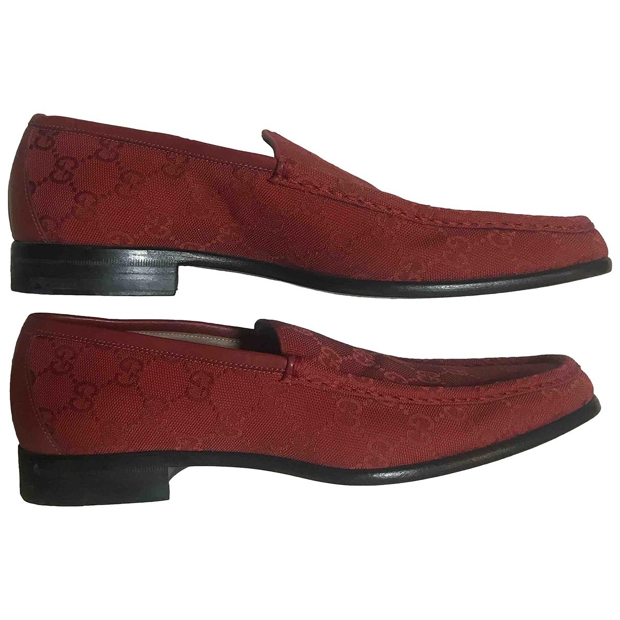 Gucci \N Red Cloth Flats for Men 41 EU