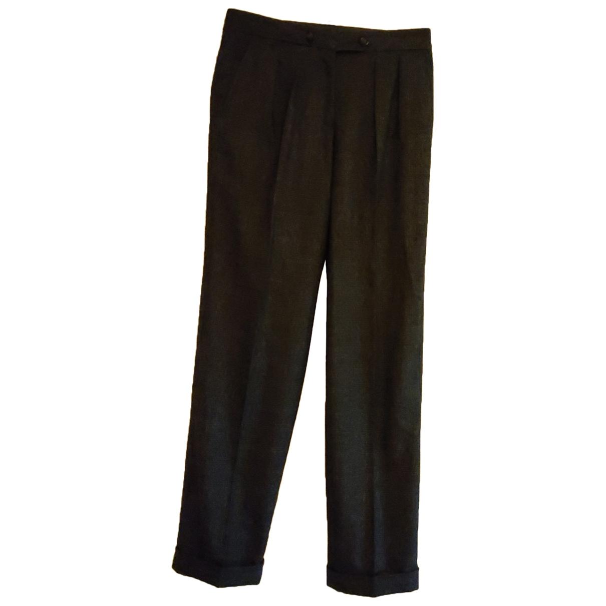 Burberry \N Grey Wool Trousers for Women 38 IT