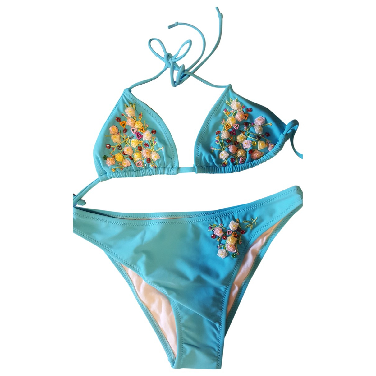 Non Signé / Unsigned \N Turquoise Swimwear for Women 44 IT