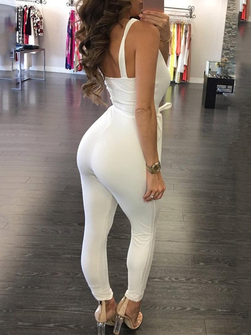 Ericdress Full Length Plain Sexy Skinny High Waist Jumpsuit