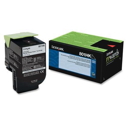 Lexmark 801HK 80C1HK0 Original Black Toner Cartridge High Yield