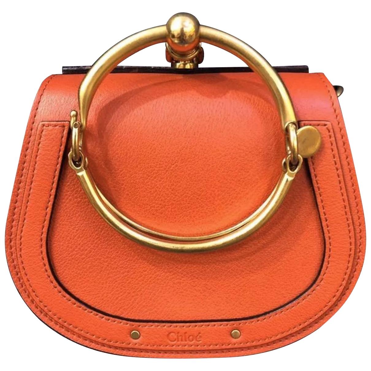 Chloe - Sac a main Bracelet Nile pour femme en cuir - orange