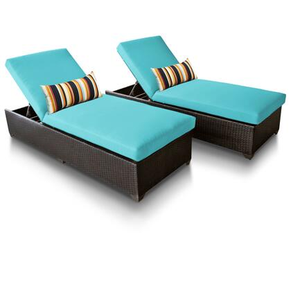 CLASSIC-2x-ARUBA Classic Chaise Set of 2 Outdoor Wicker Patio Furniture with 2 Covers: Wheat and