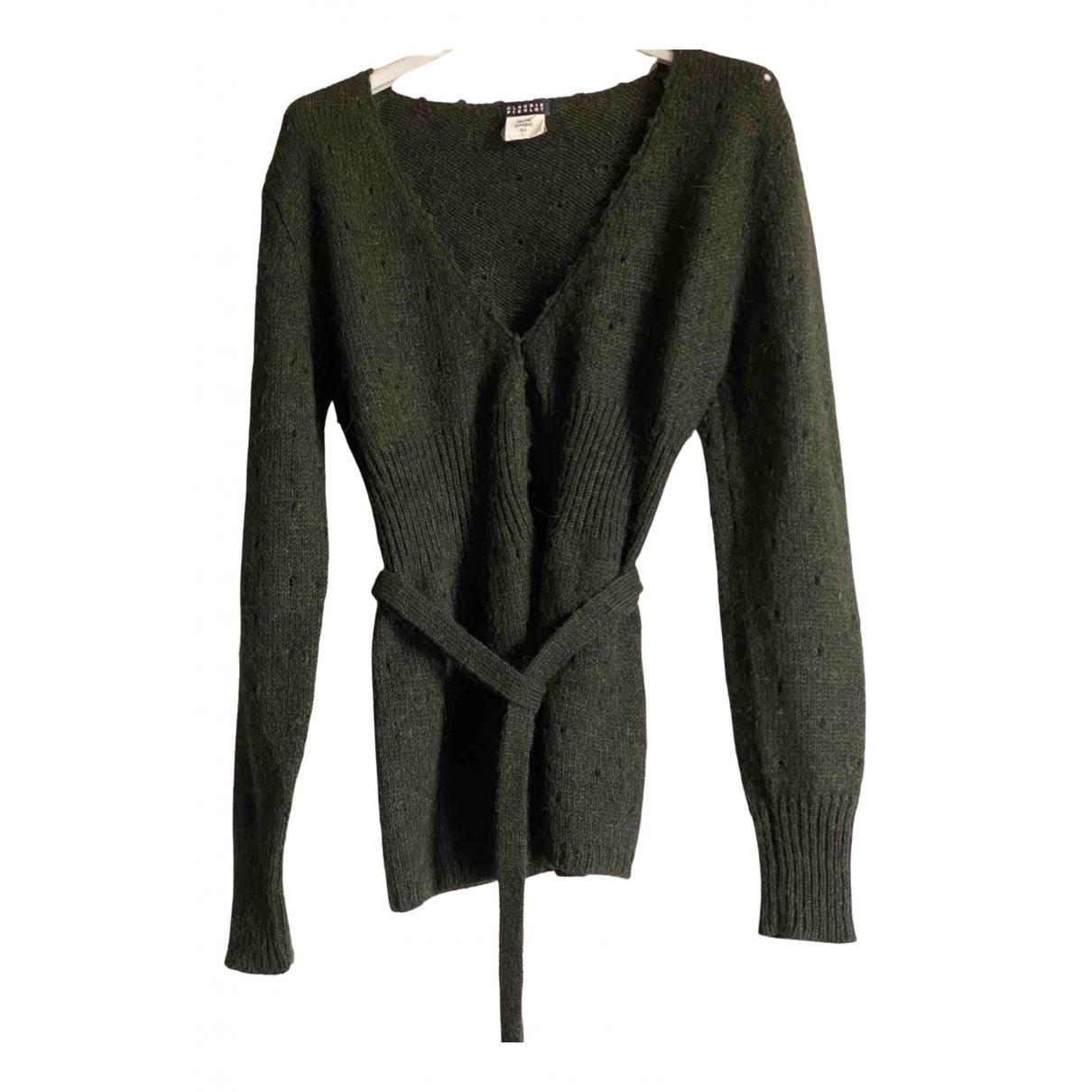 Claudie Pierlot - Pull   pour femme en laine - vert