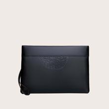 Men Minimalist Clutch Bag With Wristlet