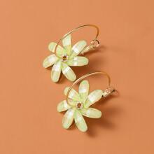 Kreolen mit Blumen Dekor