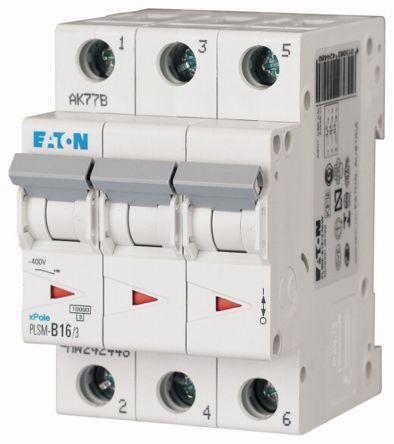 Moeller Electric xPole 16 A MCB Mini Circuit Breaker, 3P Curve C
