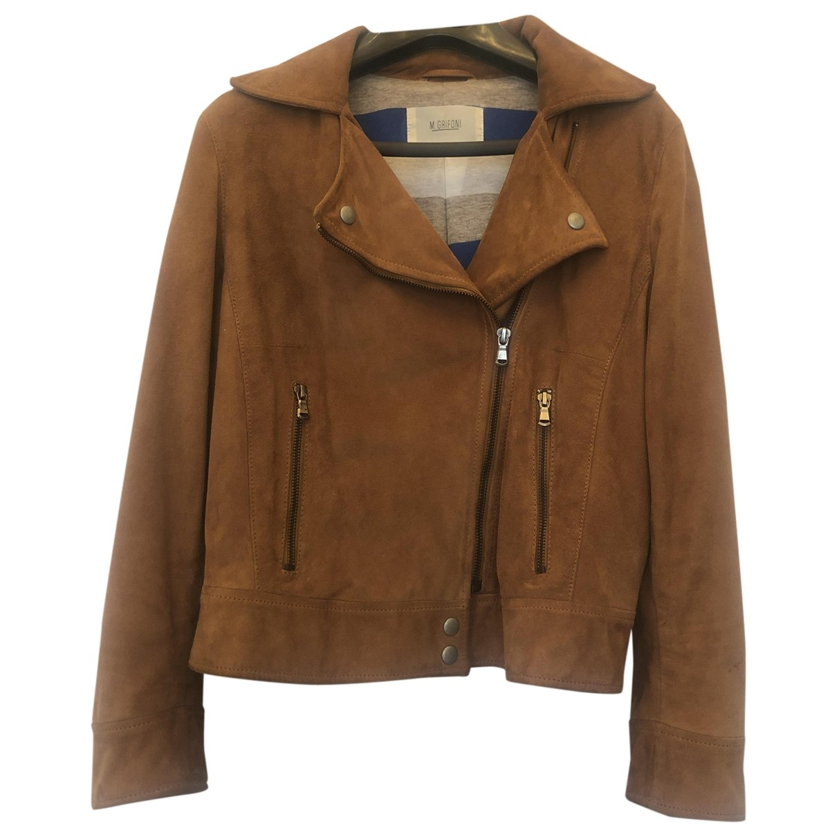 Mauro Grifoni \N Camel Suede Leather jacket for Women 44 IT