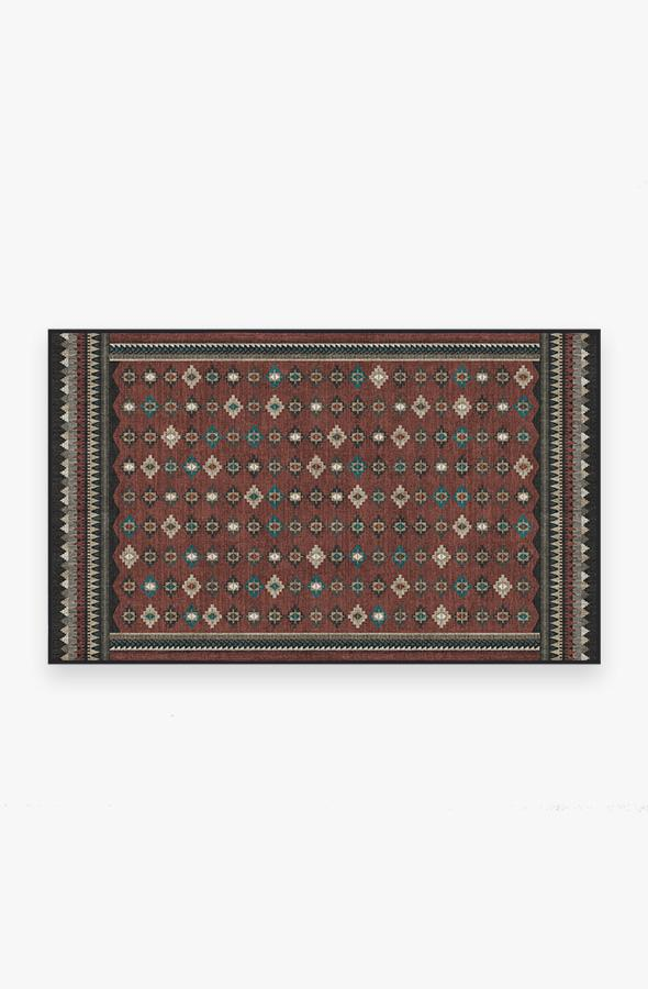 Washable Rug Cover | Noorani Vintage Red Rug | Stain-Resistant | Ruggable | 3x5