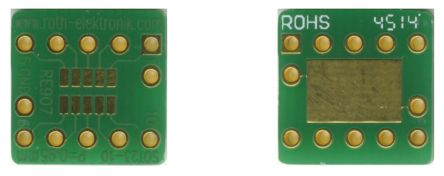 Roth Elektronik RE907, Double Sided Extender Board Adapter Adapter With Adaption Circuit Board FR4 12.5 x 12.5 x 1.5mm