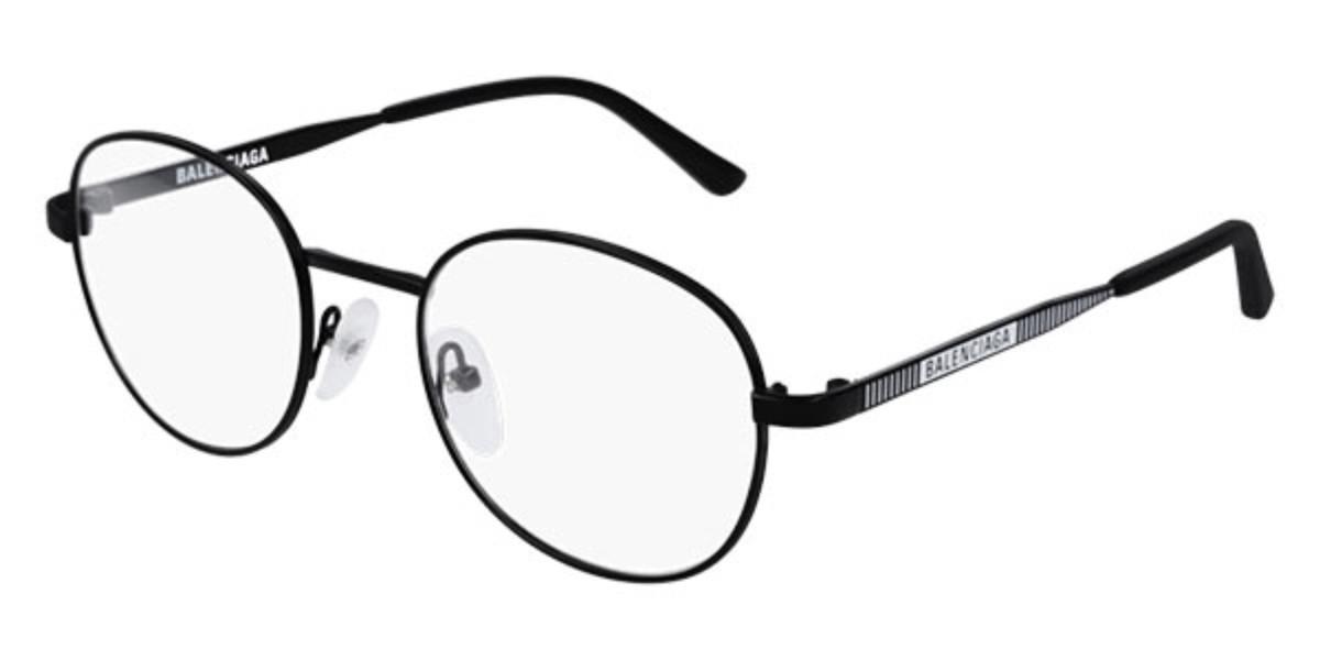 Balenciaga BB0036O 001 Men's Glasses Black Size 50 - Free Lenses - HSA/FSA Insurance - Blue Light Block Available