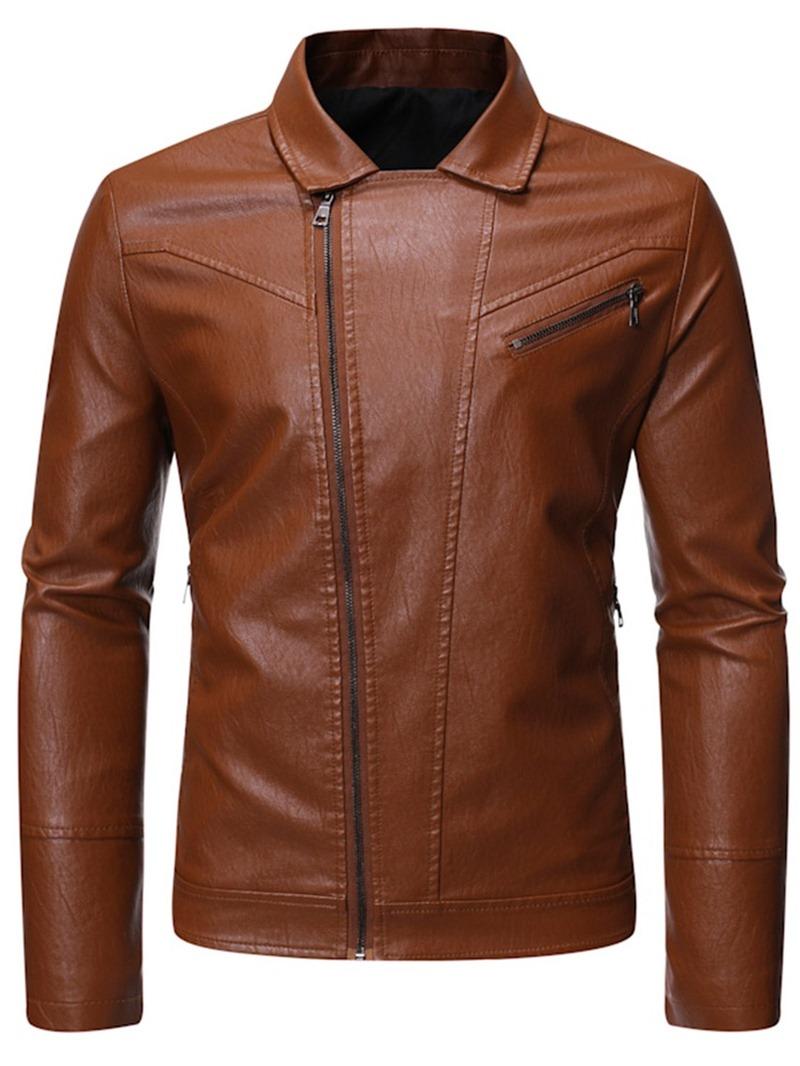 Ericdress Plain Lapel Zipper Men's Single Jacket