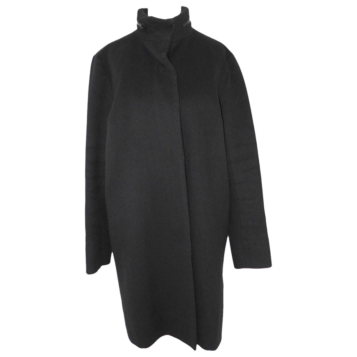 Joseph - Manteau   pour femme en laine - noir