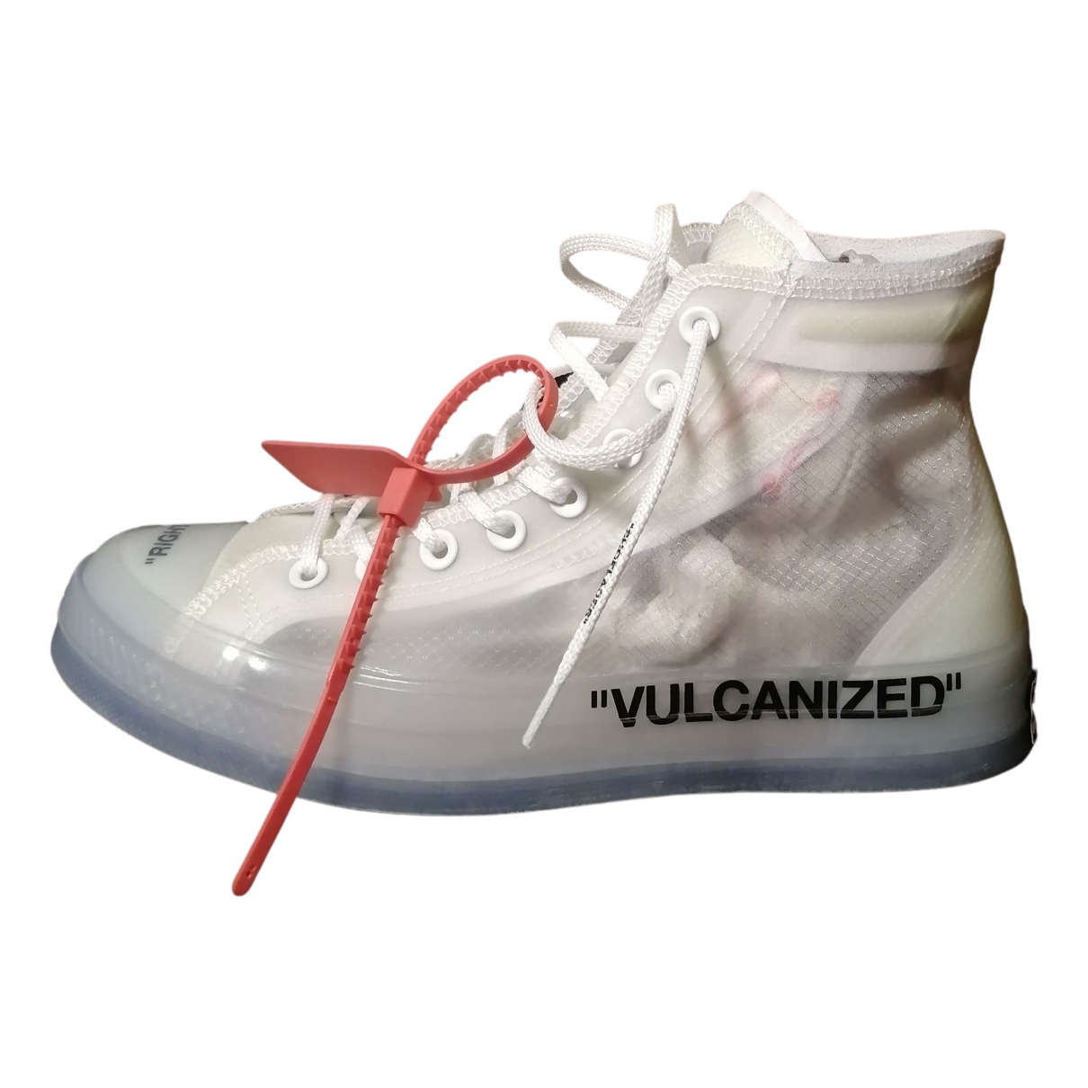 Converse X Off-white N White Cloth Trainers for Men 9 US