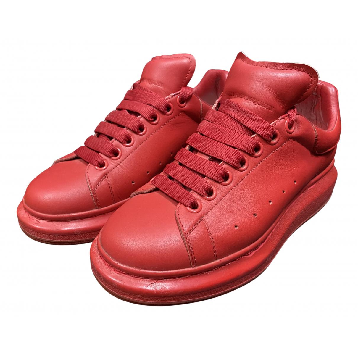 Alexander Mcqueen - Baskets Oversize pour homme en cuir - rouge