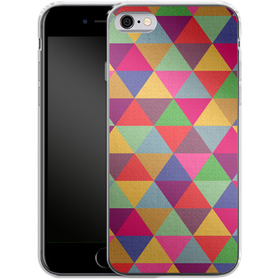 Apple iPhone 6s Silikon Handyhuelle - In Love With Triangles von Bianca Green